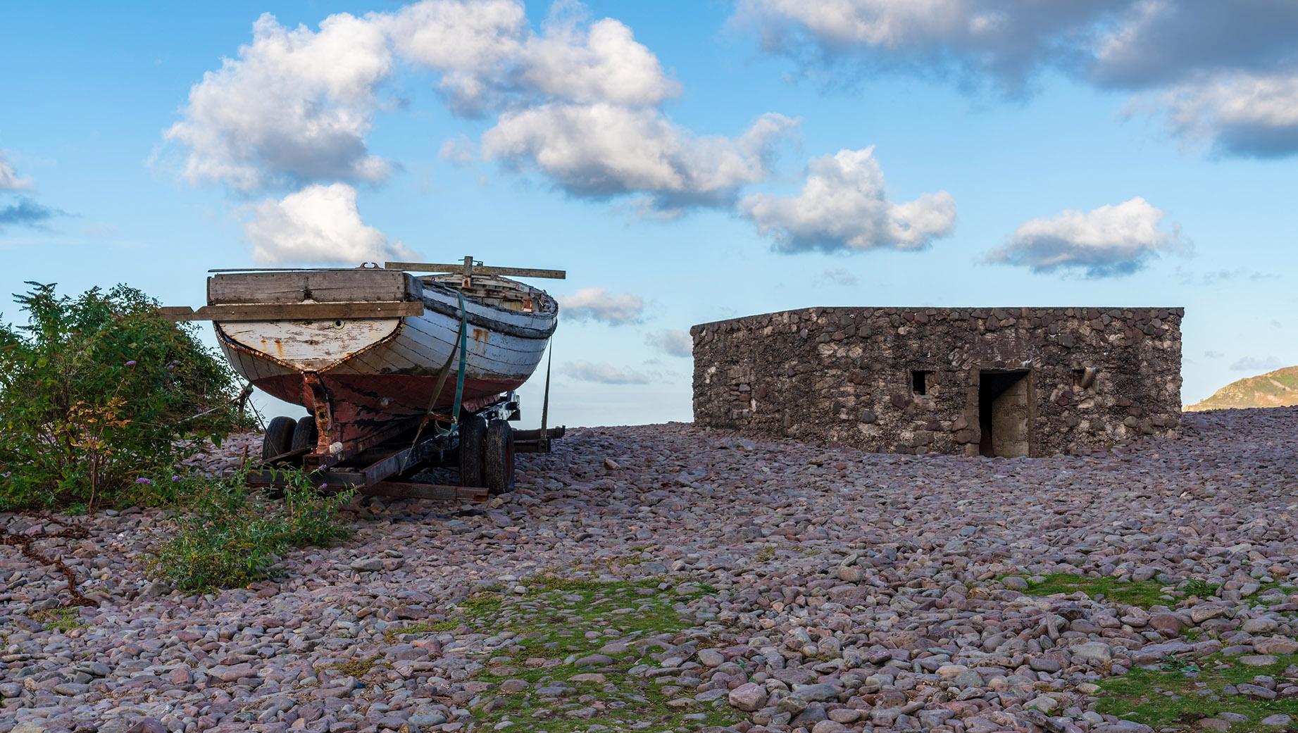 Porlock Weir - Boats on Beach
